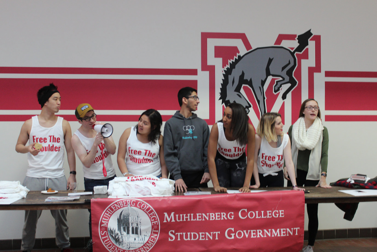 SGA celebrates new Life Sports Center dress code with Free the Shoulder Campaign