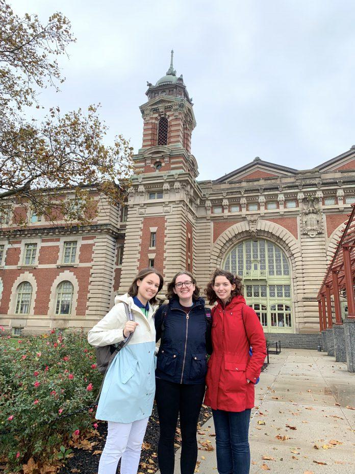Students at Ellis Island