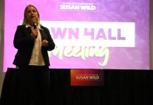 rep. susan wild speaks at town hall